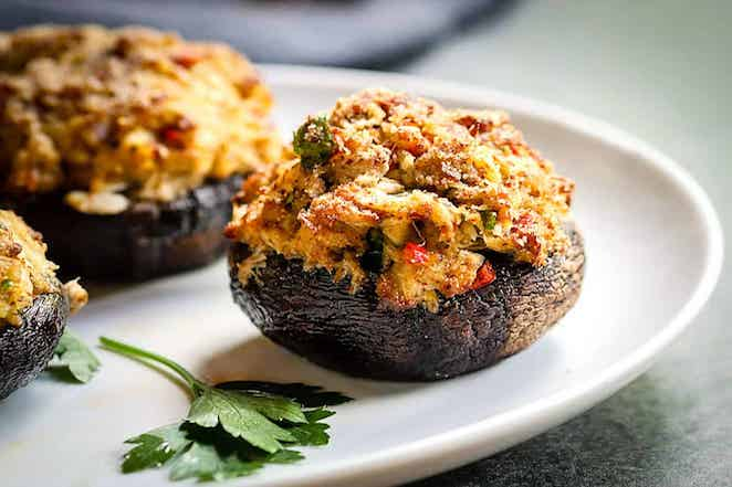 Portobello Crab Stuffed Mushrooms