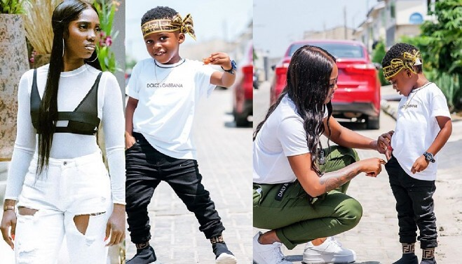 Tiwa Savage Son Jamal